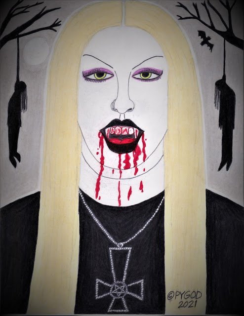 Black Metal Chick aka Countess of Death - SatansSchlongs.com