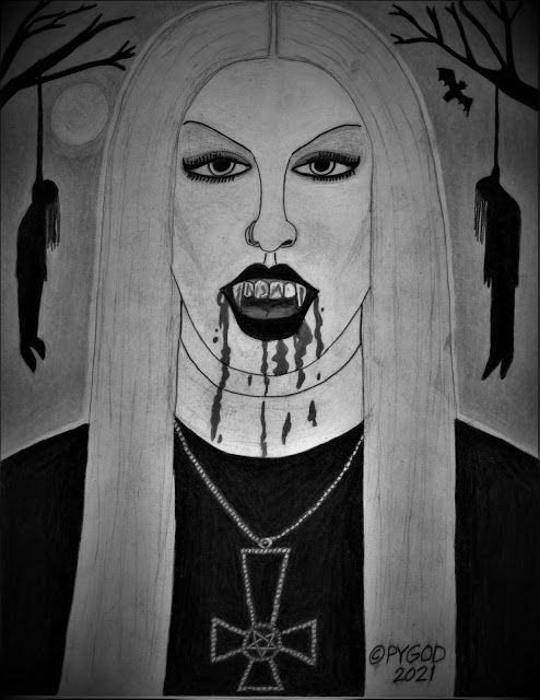 Black Metal Chick aka Countess of Death (2021-03-29) - SatansSchlongs.com