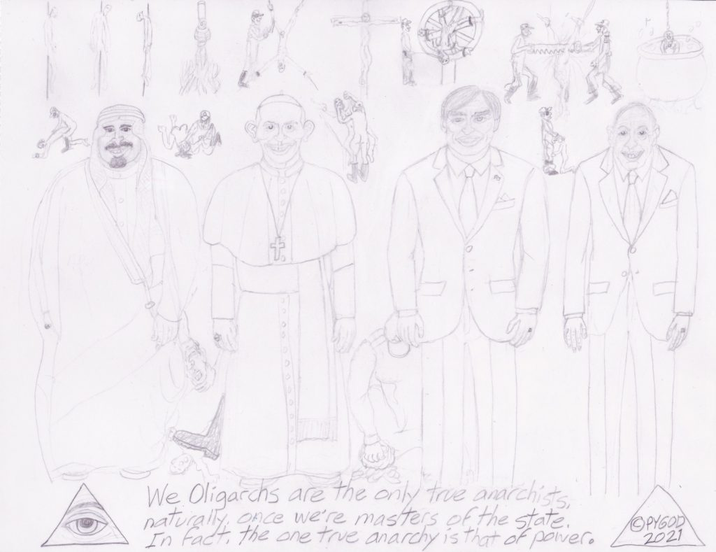 Artwork in Progress - The Council part 4. SatansSchlongs.com