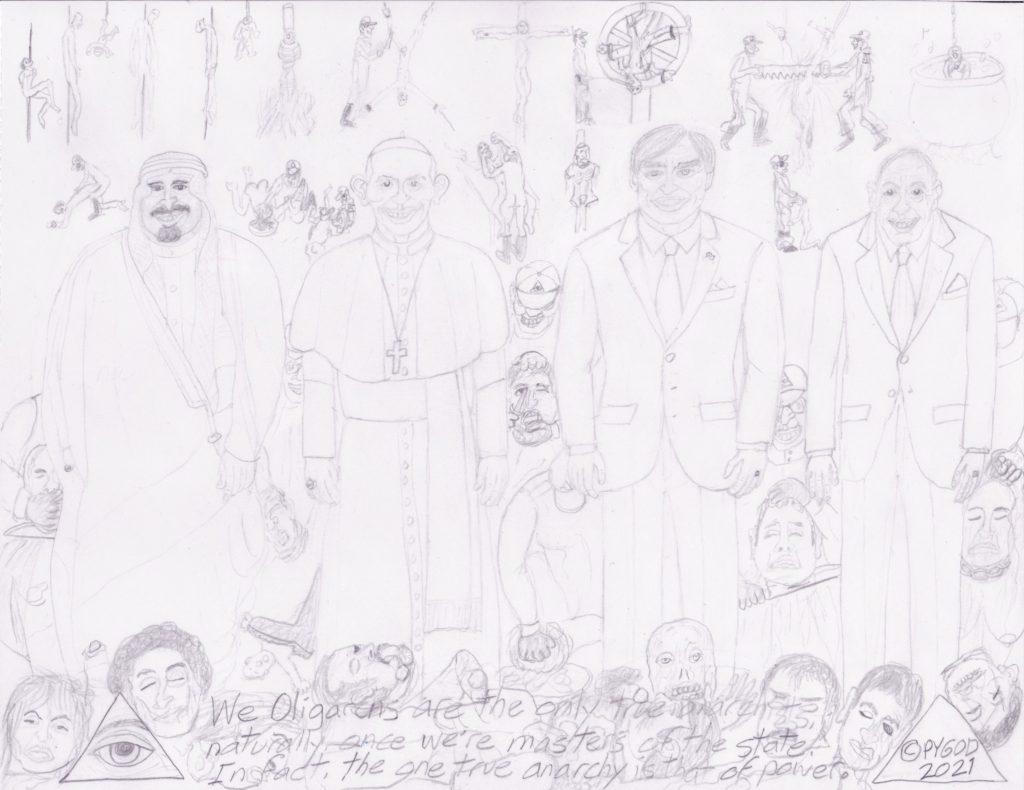 Artwork in Progress - The Council part 5. SatansSchlongs.com