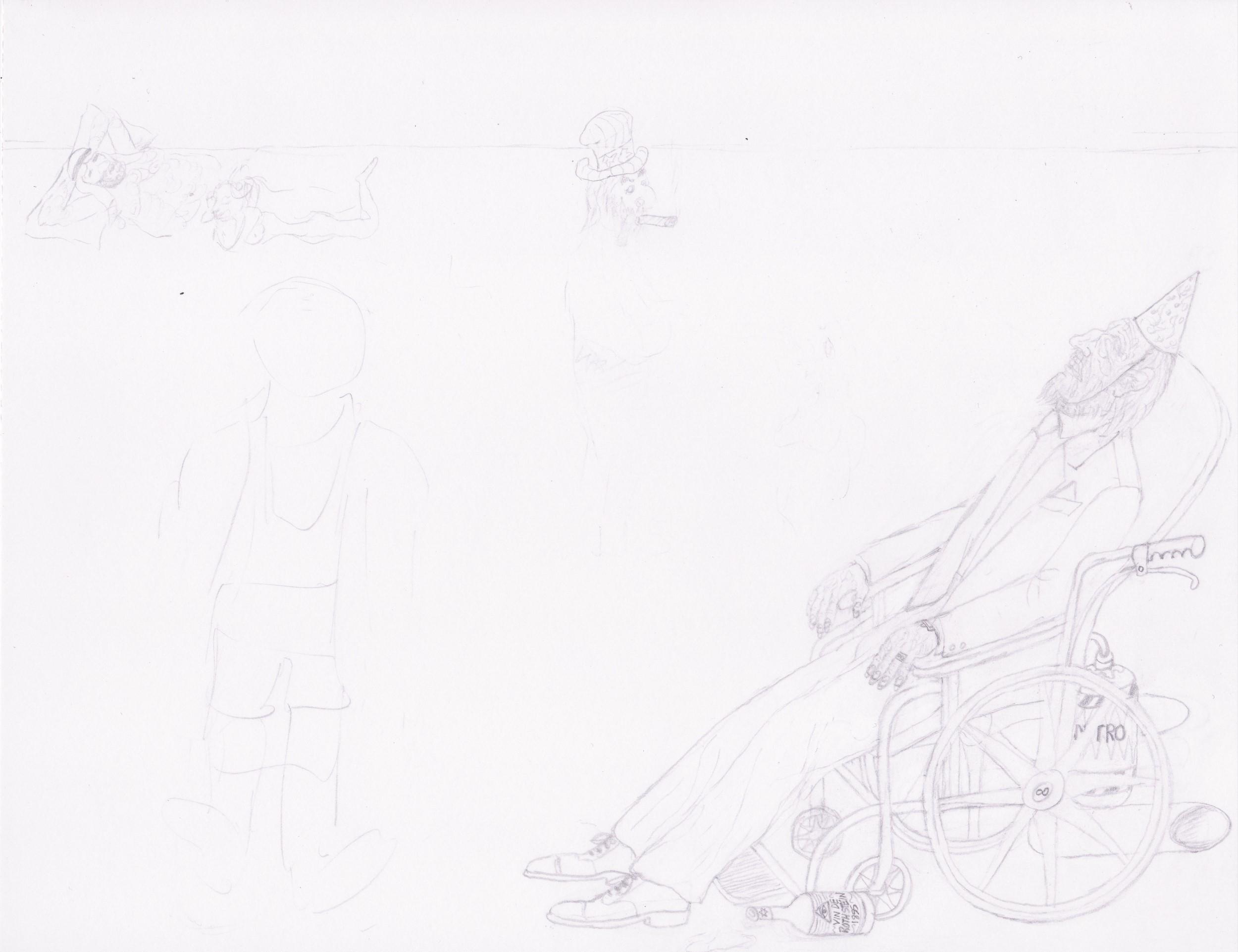 Artwork in Progress 120 Days of Anarchy step 2 (May 10, 2021) SatansSchlongs.com