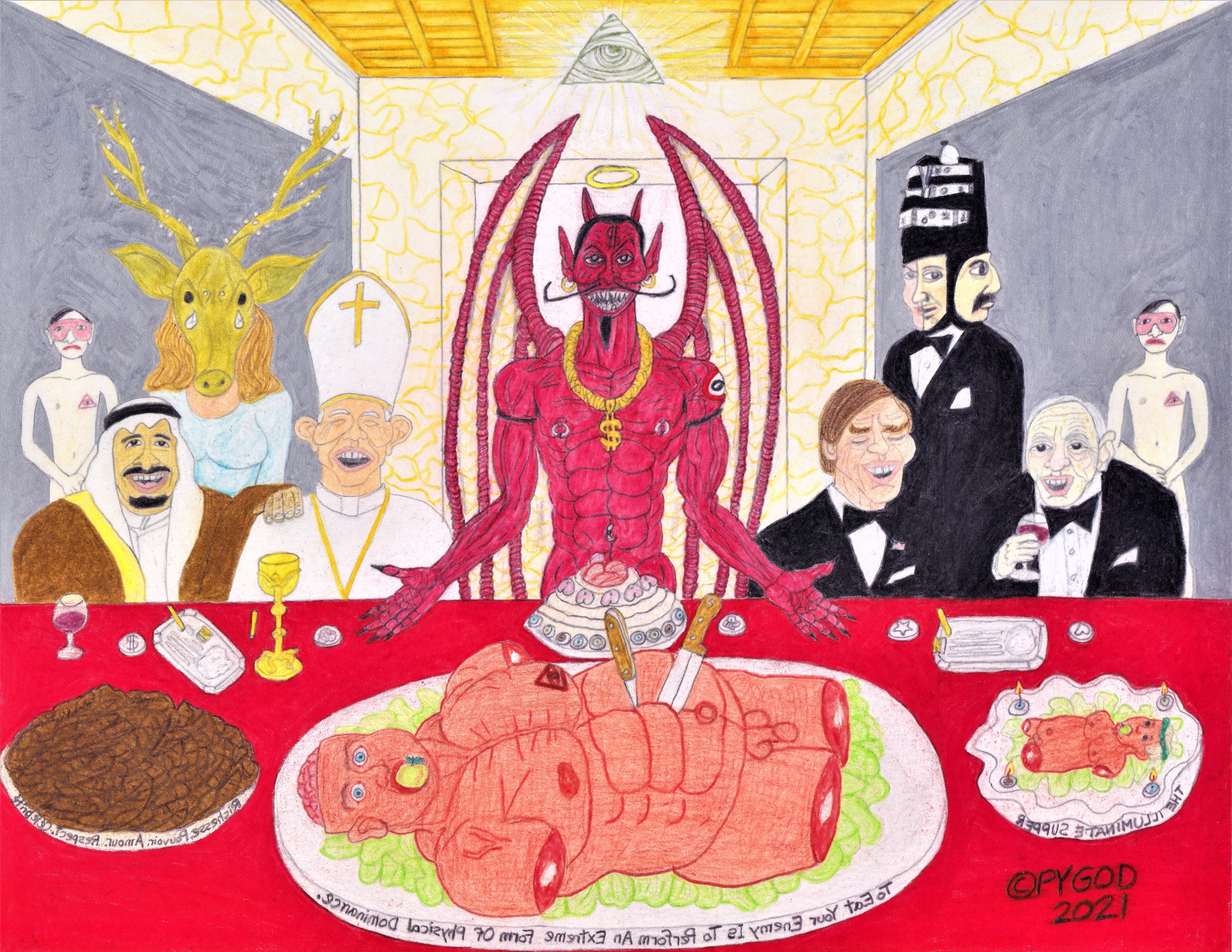 The Illuminati Supper (May 29, 2021) SatansSchlongs.com