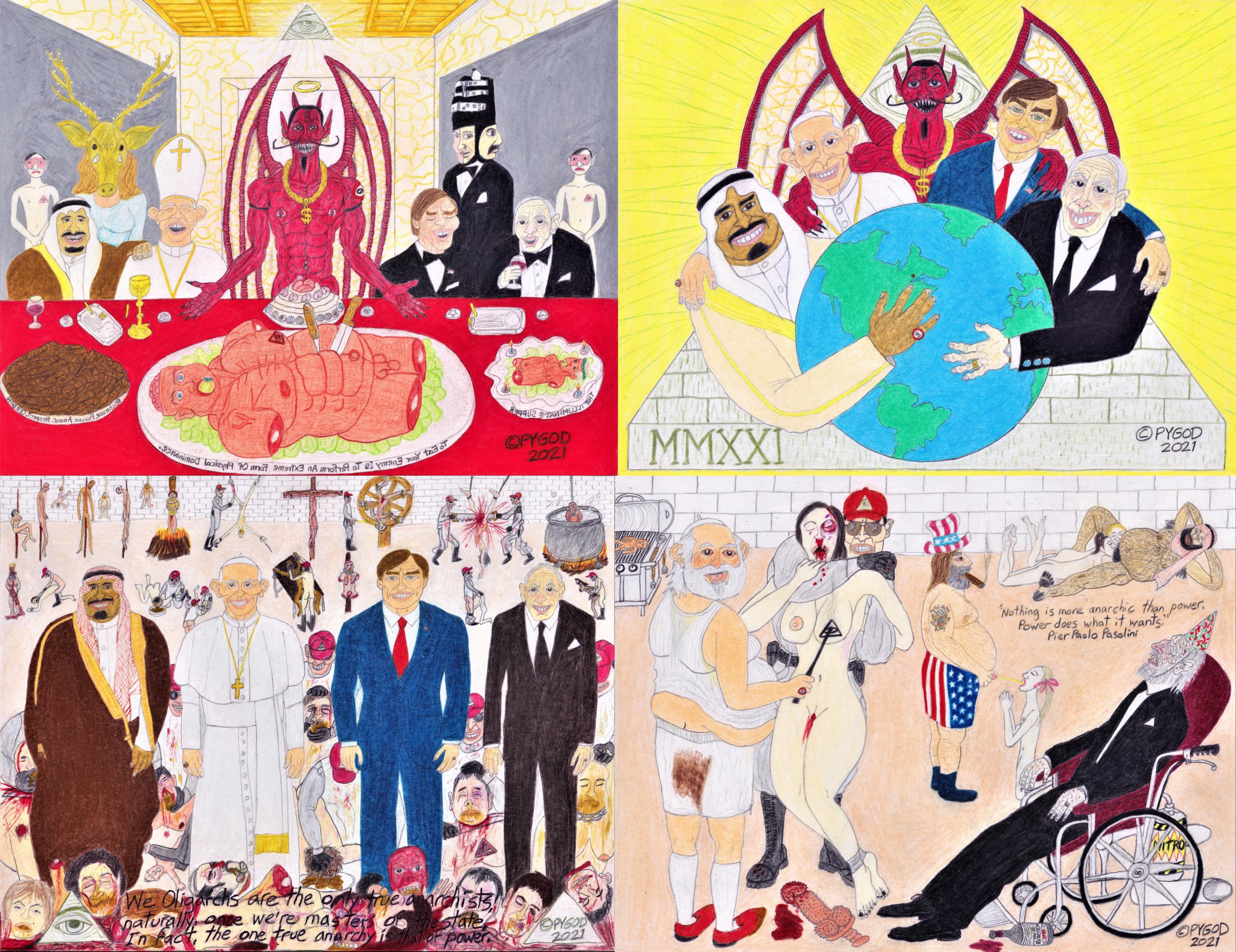 The Four Oligarchs (Illuminati) Saga. SatansSchlongs.com