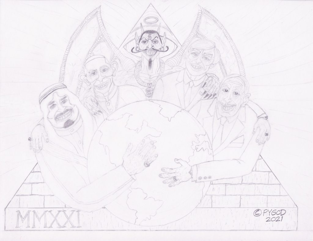 They Hold The Whole World (Illuminati) June 3, 2021 Moments before coloring. SatansSchlongs.com